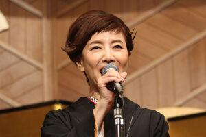 戸田恵子さん、挨拶